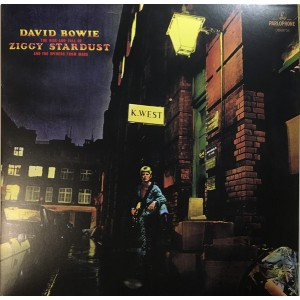 """LP DAVID BOWIE """"THE RISE AND FALL OF ZIGGY STARDUST AND THE SPIDERS FROM MARS"""" ***** PAŽEISTA POLIGRAFIJA"""