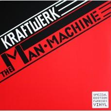 """LP KRAFTWERK """"THE MAN-MACHINE"""" RED TRANSLUCENT"""